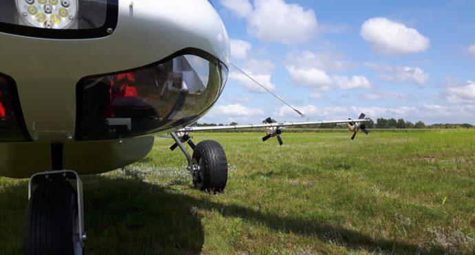 crop spraying gyroplane